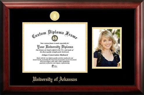 Arkansas Razorbacks Gold Embossed Diploma Frame with Portrait