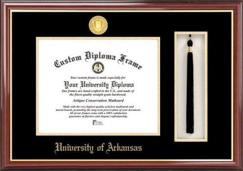 Arkansas Razorbacks Diploma Frame & Tassel Box