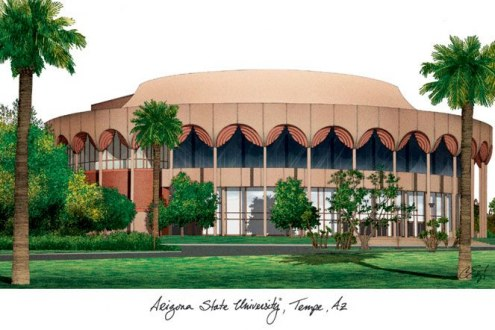 Arizona State Sun Devils Campus Images Lithograph