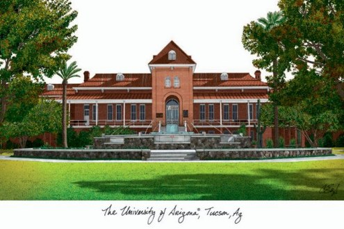 Arizona Wildcats Campus Images Lithograph