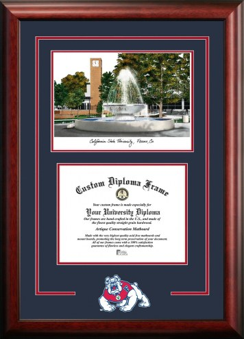 Fresno State Bulldogs Spirit Graduate Diploma Frame