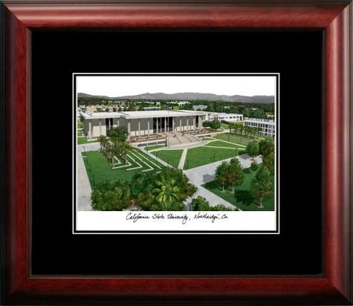 California State Northridge Matadors Campus Images Lithograph