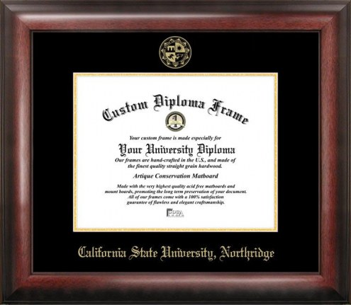 California State Northridge Matadors Gold Embossed Diploma Frame
