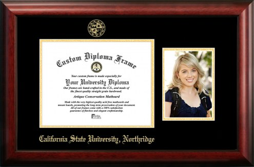 California State Northridge Matadors Gold Embossed Diploma Frame with Portrait