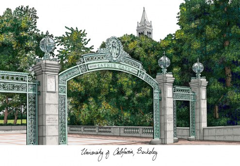 California Golden Bears Campus Images Lithograph