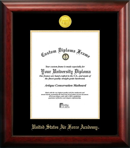 Air Force Falcons Gold Embossed Diploma Frame