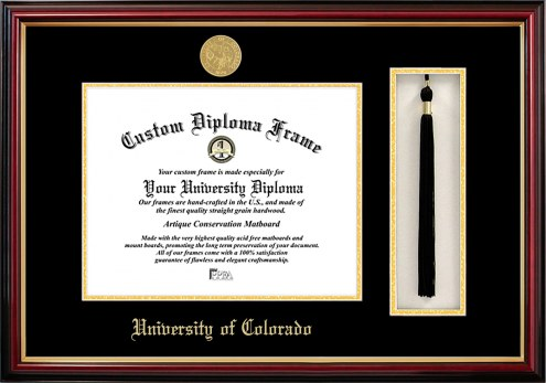 Colorado Buffaloes Diploma Frame & Tassel Box
