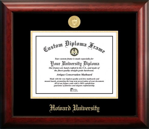 Howard Bison Gold Embossed Diploma Frame