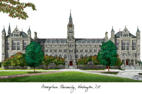 Georgetown Hoyas Campus Images Lithograph
