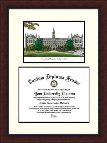 Georgetown Hoyas Legacy Scholar Diploma Frame