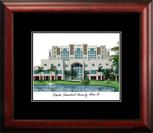 Florida International Golden Panthers Campus Images Lithograph