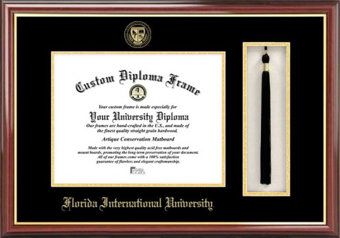 Florida International Golden Panthers Diploma Frame & Tassel Box