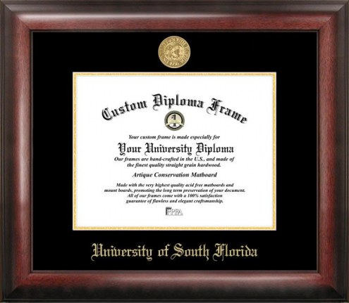 South Florida Bulls Gold Embossed Diploma Frame