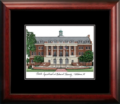 Florida A&M Rattlers Campus Images Lithograph