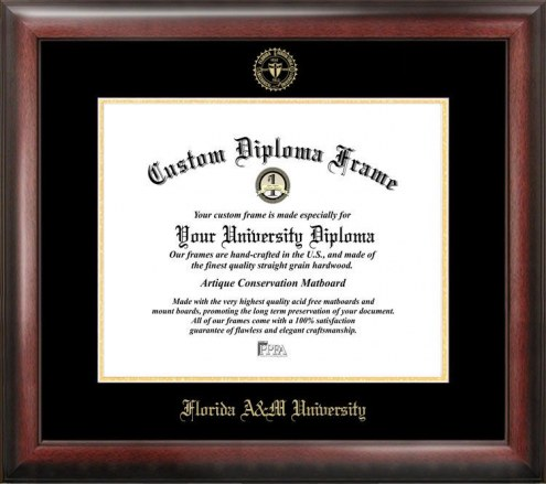 Florida A&M Rattlers Gold Embossed Diploma Frame