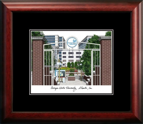 Georgia State Panthers Campus Images Lithograph