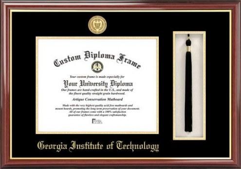 Georgia Tech Yellow Jackets Diploma Frame & Tassel Box