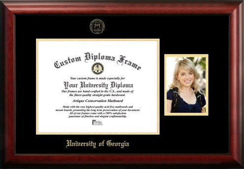 Georgia Bulldogs Gold Embossed Diploma Frame with Portrait