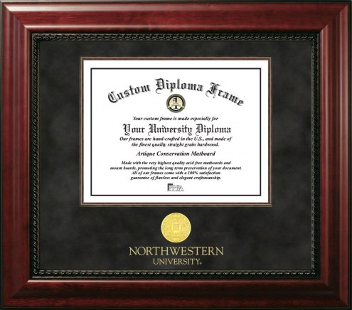 Northwestern Wildcats Executive Diploma Frame