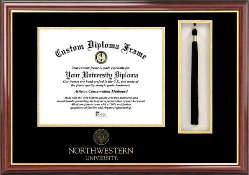 Northwestern Wildcats Diploma Frame & Tassel Box