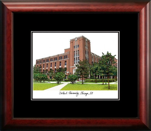 DePaul Blue Demons Campus Images Lithograph