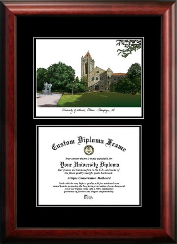 Illinois Fighting Illini Diplomate Diploma Frame