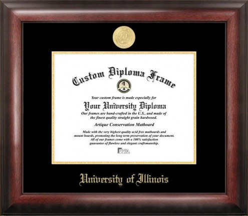 Illinois Fighting Illini Gold Embossed Diploma Frame