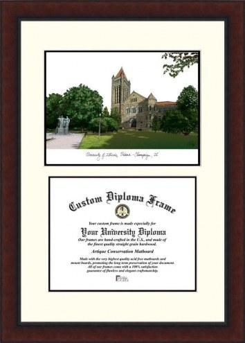 Illinois Fighting Illini Legacy Scholar Diploma Frame