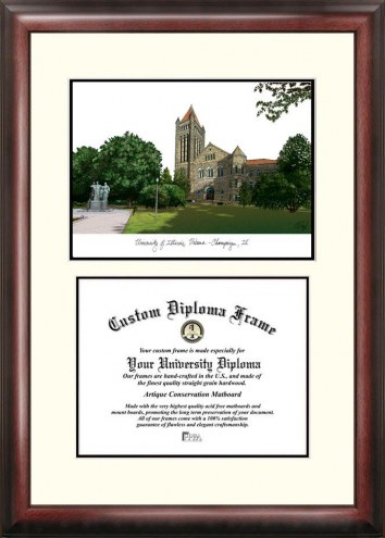 Illinois Fighting Illini Scholar Diploma Frame