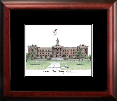 Western Illinois Leathernecks Campus Images Lithograph