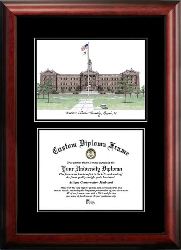 Western Illinois Leathernecks Diplomate Diploma Frame