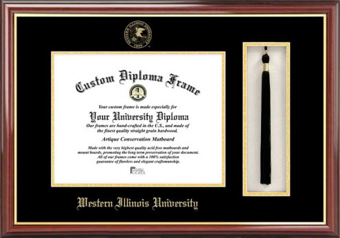 Western Illinois Leathernecks Diploma Frame & Tassel Box