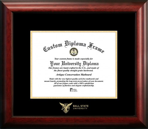 Ball State Cardinals Gold Embossed Diploma Frame