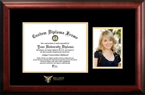 Ball State Cardinals Gold Embossed Diploma Frame with Portrait