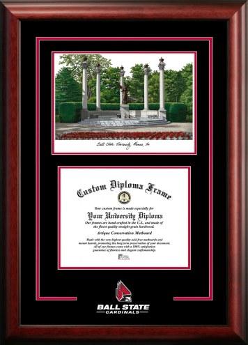 Ball State Cardinals Spirit Graduate Diploma Frame