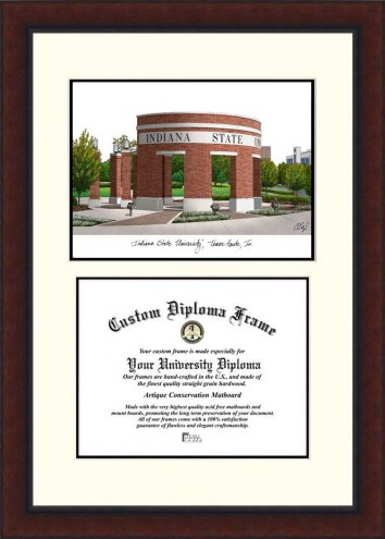 Indiana State Sycamores Legacy Scholar Diploma Frame