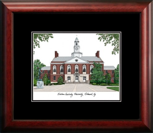 Eastern Kentucky Colonels Campus Images Lithograph