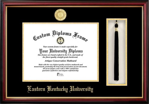 Eastern Kentucky Colonels Diploma Frame & Tassel Box