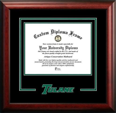 Tulane Green Wave Spirit Diploma Frame