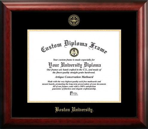 Boston Terriers Gold Embossed Diploma Frame