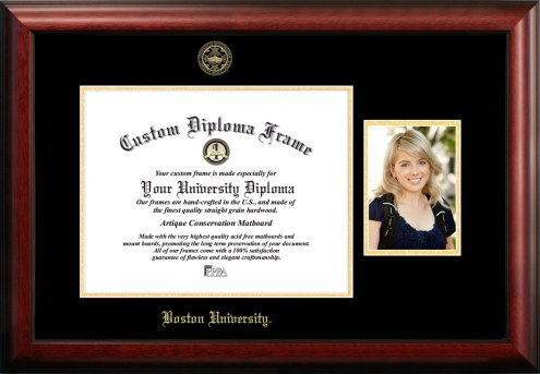 Boston Terriers Gold Embossed Diploma Frame with Portrait