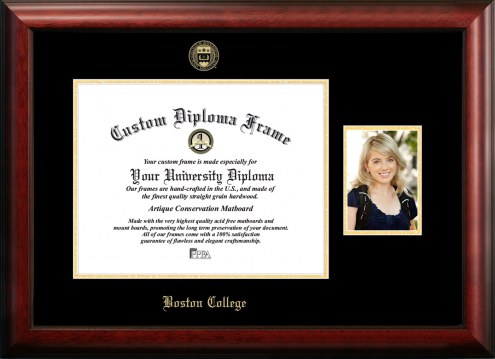 Boston College Eagles Gold Embossed Diploma Frame with Portrait