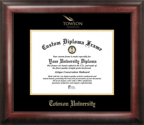 Towson Tigers Gold Embossed Diploma Frame