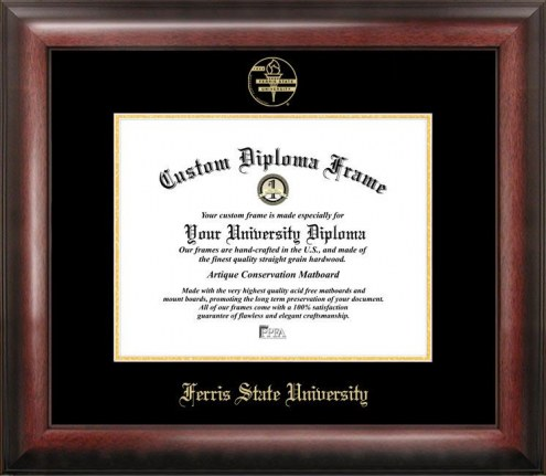 Ferris State Bulldogs Gold Embossed Diploma Frame