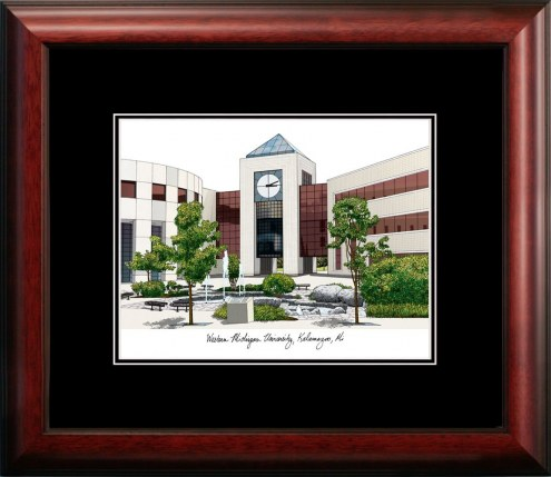 Western Michigan Broncos Campus Images Lithograph