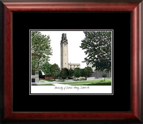 Detroit Mercy Titans Campus Images Lithograph