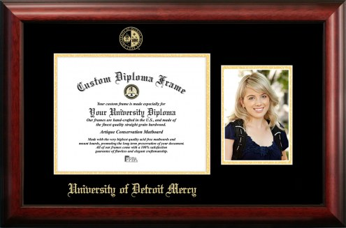 Detroit Mercy Titans Gold Embossed Diploma Frame with Portrait