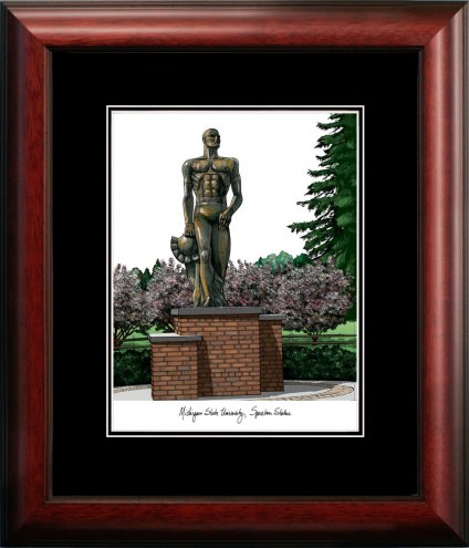 Michigan State Spartans Campus Images Lithograph