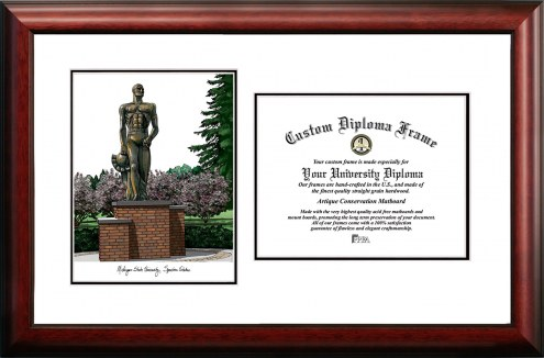 Michigan State Spartans Scholar Diploma Frame