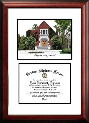 Michigan State Spartans Scholar Diploma Frame